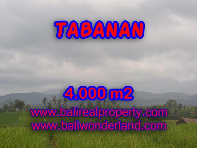 Land in Tabanan Bali for sale, Incredible view in TABANAN BARAT – TJTB084