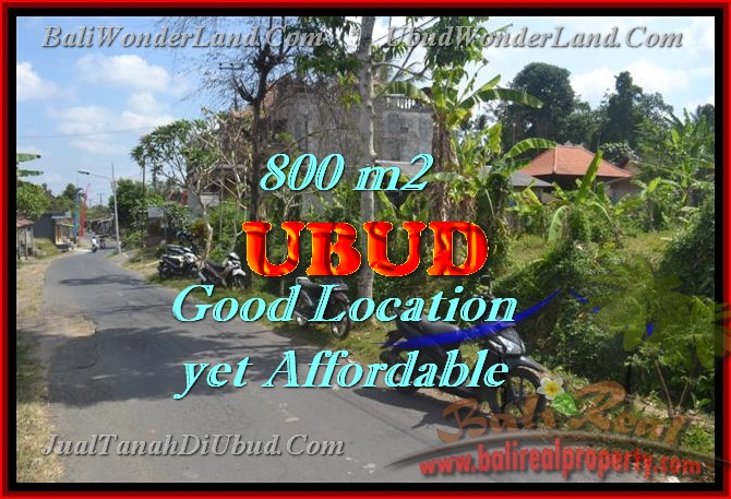 Astounding Property in Bali for sale, Green Garden View land in Ubud Bali – TJUB426