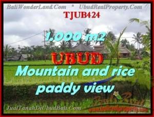 Beautiful PROPERTY 1,000 m2 LAND SALE IN UBUD BALI TJUB424
