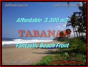 Beautiful 3.300 m2 LAND IN TABANAN BALI FOR SALE TJTB157
