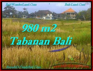 FOR SALE Exotic 980 m2 LAND IN TABANAN TJTB244