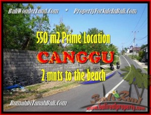 Affordable 550 m2 LAND IN CANGGU FOR SALE TJCG159